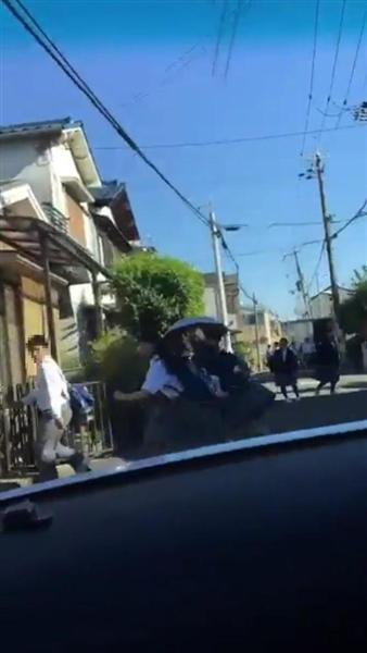 通学路に猛スピードの車、逃げ惑う生徒らの姿…車内から撮影の投稿動画 大阪府警が捜査