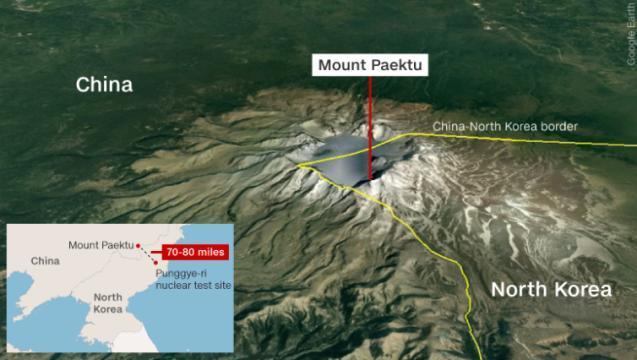 北朝鮮の核実験で火山噴火の恐れ?、専門家が懸念