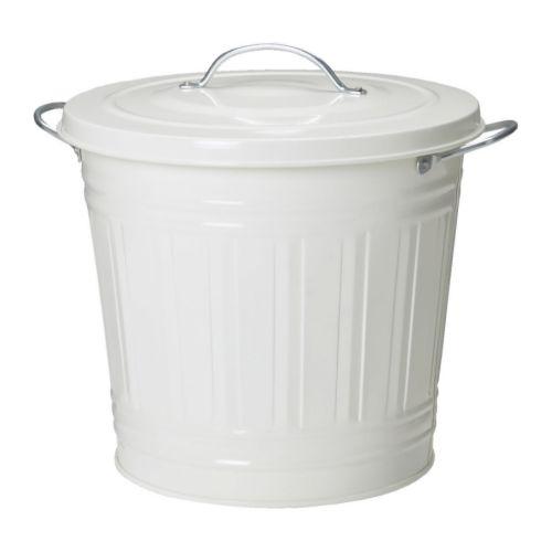 KNODD ふた付き容器, ホワイト - ホワイト - 16 l - IKEA
