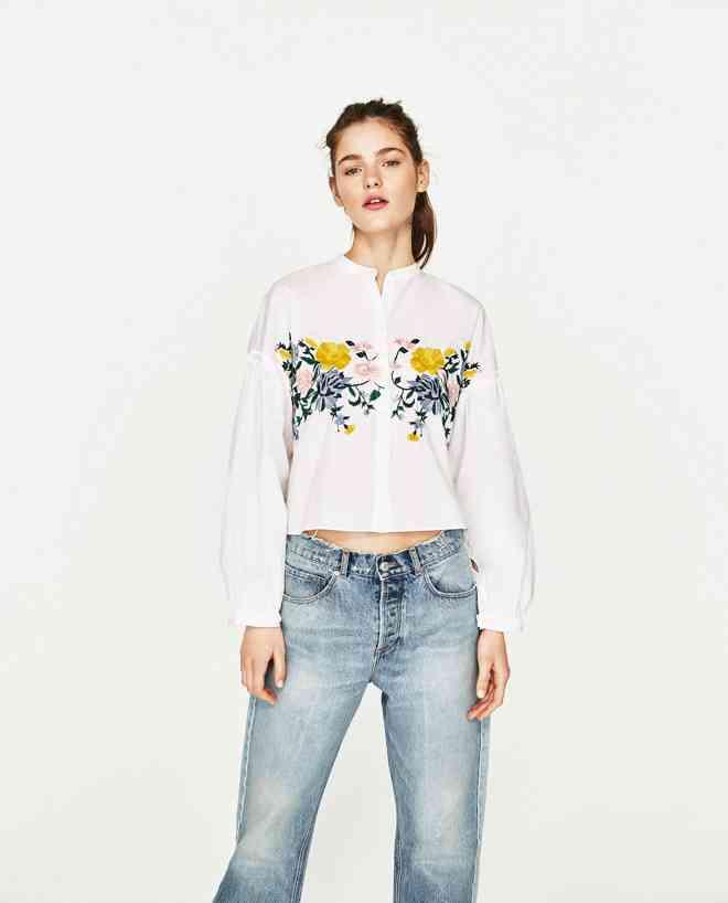 ZARAの花柄刺繍シャツが人気、目撃情報が多発し話題に | Fashionsnap.com