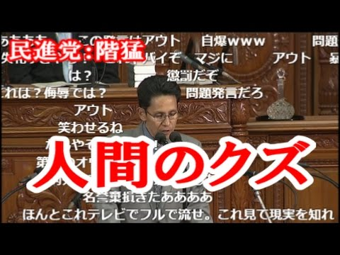 【胸糞注意】国会5/9 階猛 完全にアウト 「金田法務大臣がもう一つのオウム事件を起こしてる」 - YouTube