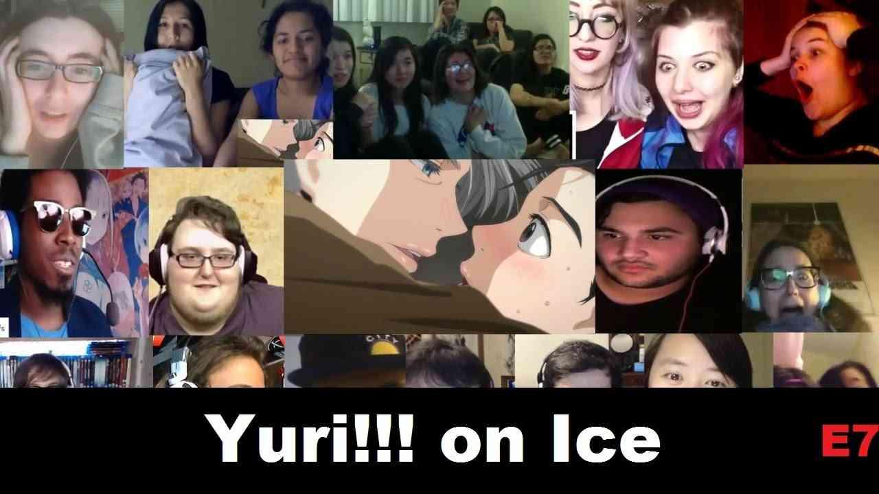 Anime Reactions Yuri!!! on Ice Episode 7 - YouTube