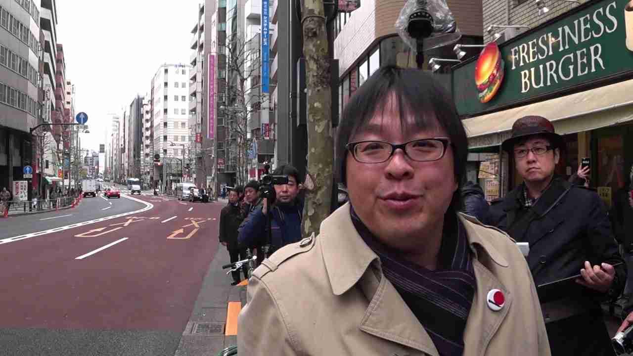 【桜井誠 氏】アパホテル前で南京デモを行う支那人に断固抗議を! 2017.2.5 - YouTube
