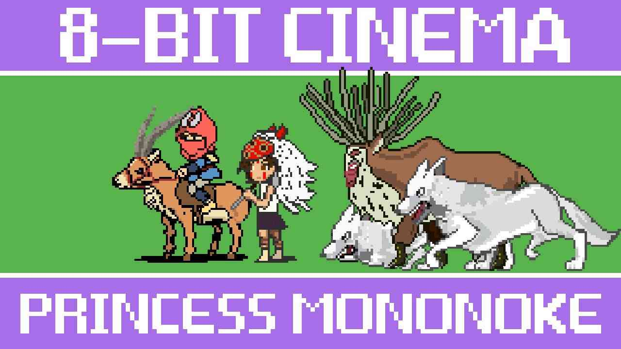 Princess Mononoke - 8 Bit Cinema - YouTube