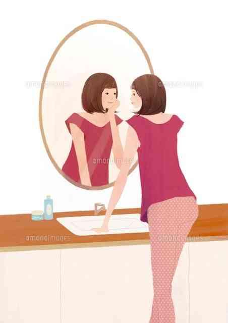 外出先と家、鏡で見た時の顔の違い