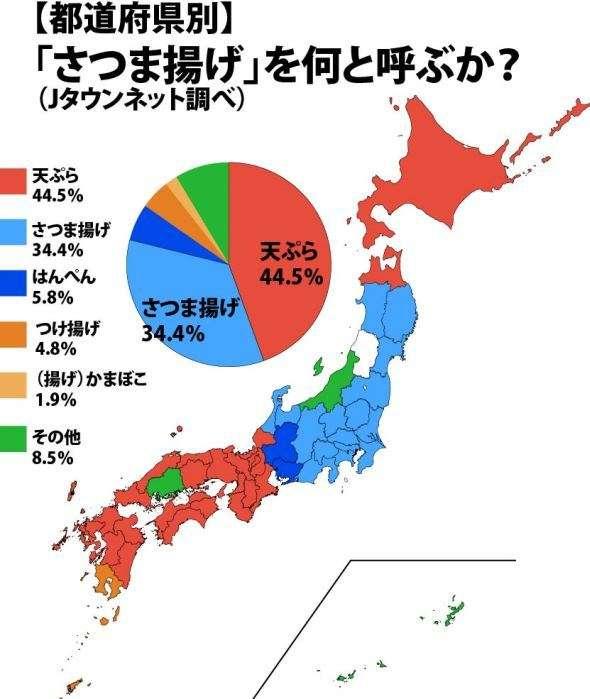 関東人「さつま揚げ食べよ!」関西人「それ、天ぷらやろ」 地域で違う呼び名、境界線はどこだ(全文表示) - Jタウン研究所 - Jタウンネット 東京都