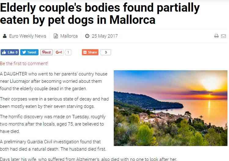 【海外発!Breaking News】夫急死に認知症の妻、なす術なく衰弱死 飼い犬は彼らを食べて飢えをしのぐ(スペイン) | Techinsight(テックインサイト)|海外セレブ、国内エンタメのオンリーワンをお届けするニュースサイト