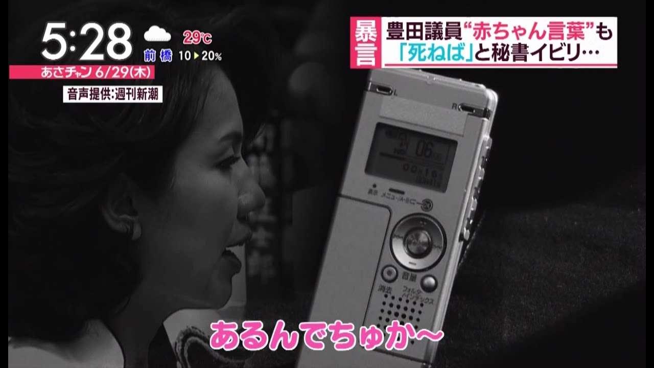 【新たな音声】豊田真由子議員 赤ちゃん言葉で秘書を罵倒する! - YouTube