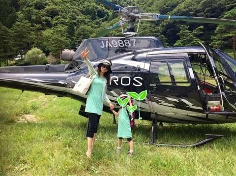 神田うの、娘のバイオリン合宿ヘリで移動  山梨県の精進湖まで40分