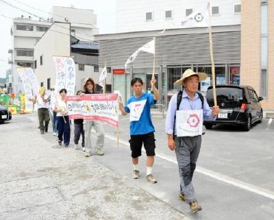 韓国の大学教授、脱原発訴え行進|佐賀新聞LiVE