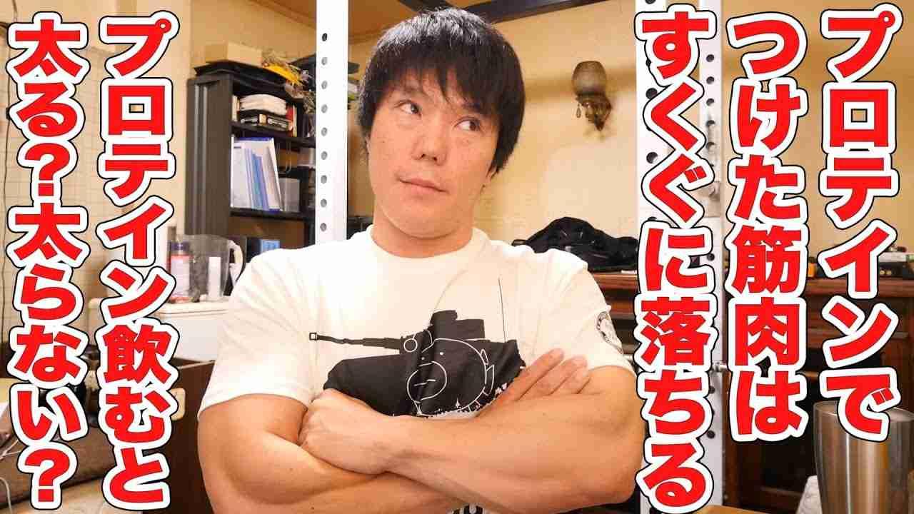 【FAQ】プロテインは太る?プロテインでつけた筋肉は、辞めるとすぐ落ちる? - YouTube