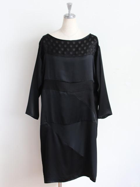 """【楽天市場】No.6(ナンバーシックス) """"Lara Panel Dress"""" シルクパッチワークロングスリーブドレス:hiari"""