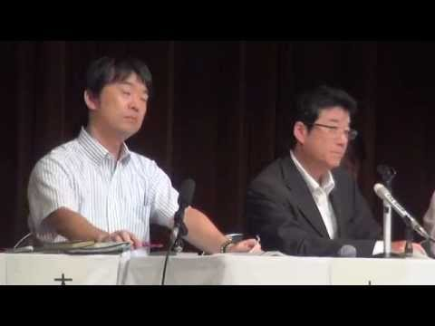 橋下市長、がれき受け入れ説明会を強制終了。住民の質問に答えず - YouTube