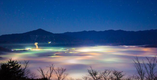 美の山から見る雲海と夜景がまるでファンタジーの世界 | 秩父の情報サイトちーぽん