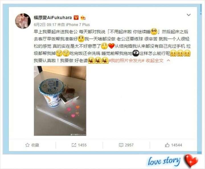 福原愛が中国版ツイッターにラブラブ投稿「夫が何でもしてく... - Record China
