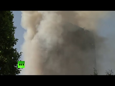 LIVE: People trapped in huge west London tower block inferno – reports - YouTube