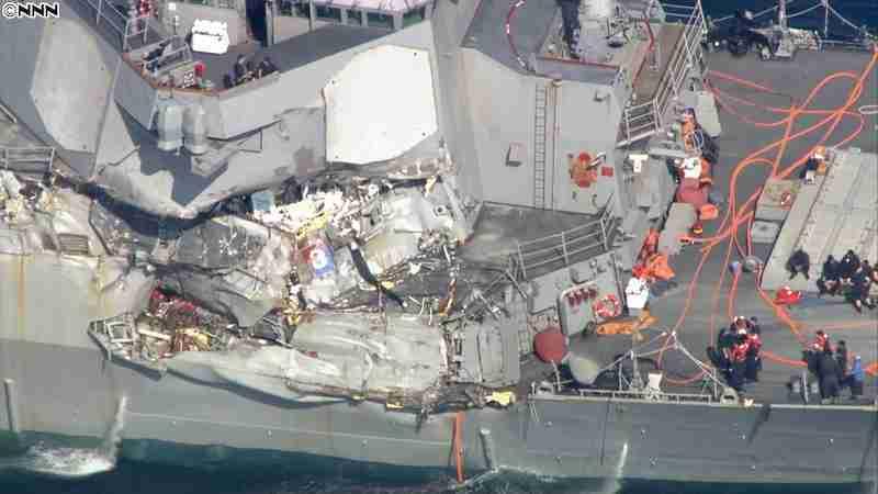 米イージス艦とコンテナ船が衝突 7人不明|日テレNEWS24