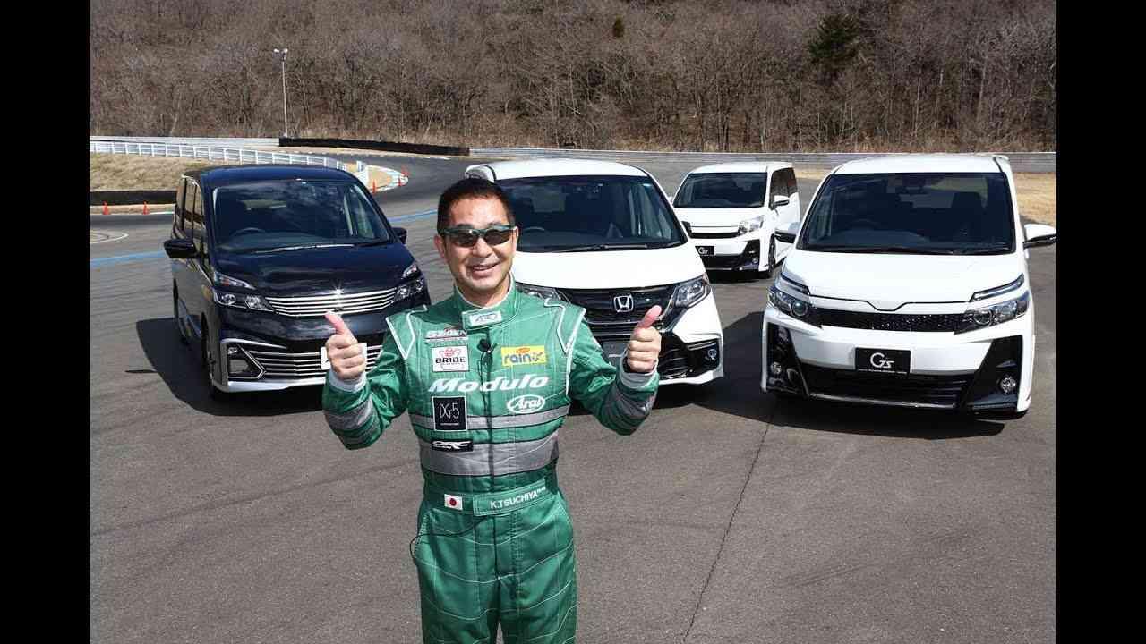 土屋圭市がテスト! スポーツミニバンをサーキットで試す Drift king tsuchiya keiichi sports minivan circuit test - YouTube