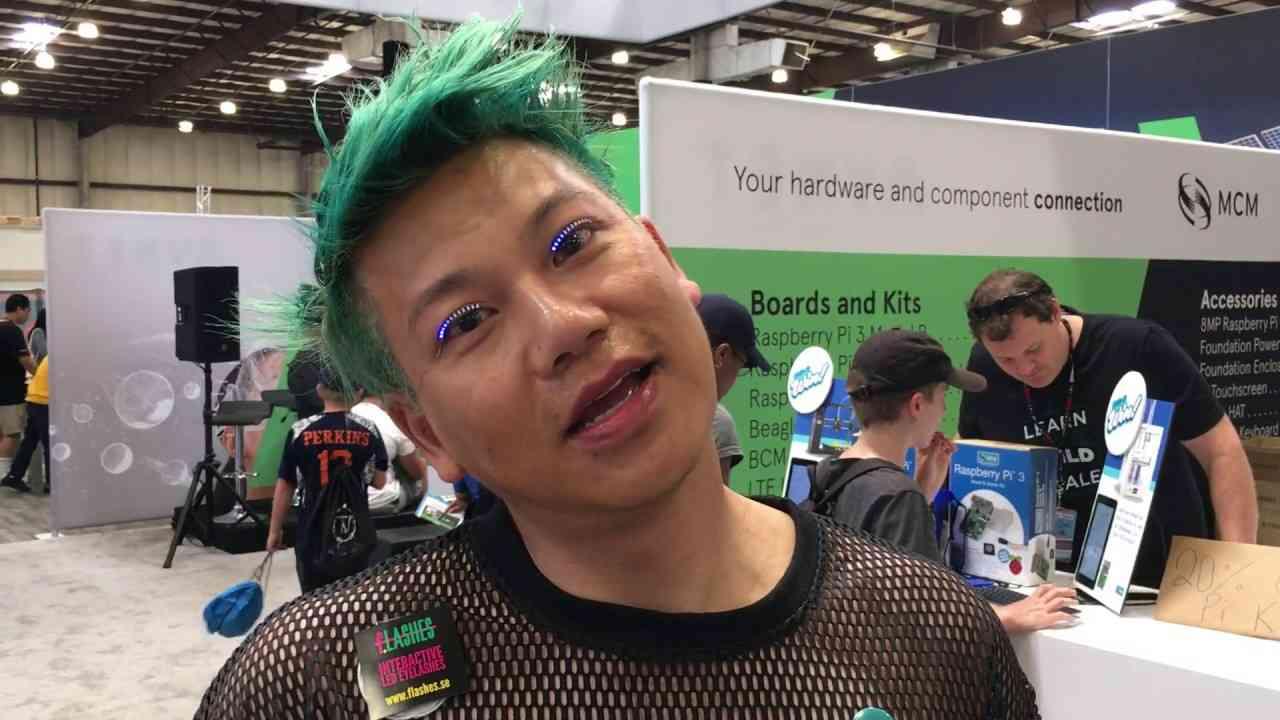 F.Lashes Interactive LED Eyelashes - YouTube