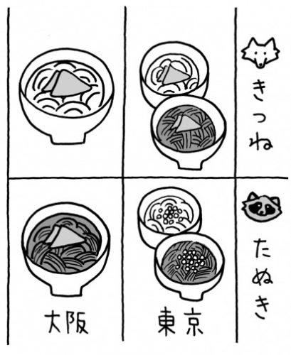 東京と大阪の「たぬきそば」って違うものなの?