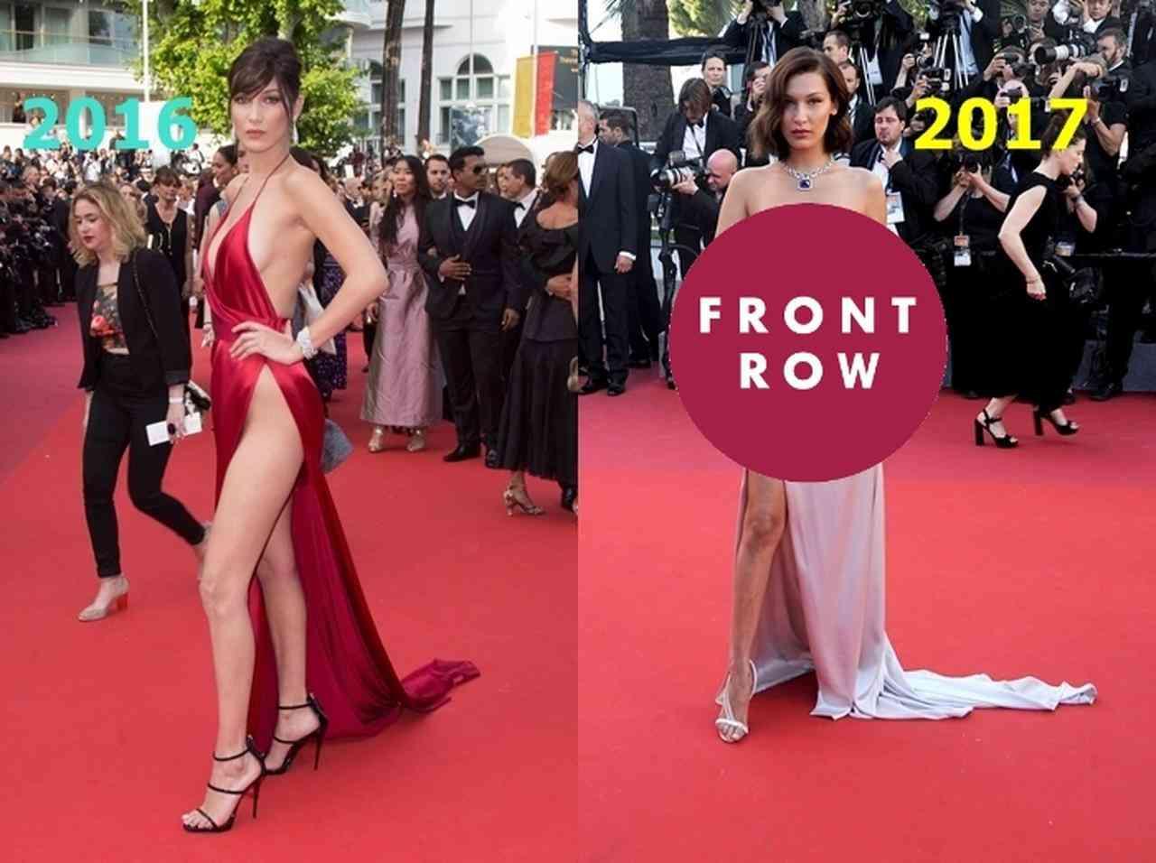 超セクシーなドレス姿のベラ・ハディッドをカンヌ映画祭で激写!途中ハプニングも!? - FRONTROW