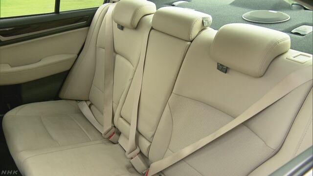 後部座席のシートベルト未着用 新車に警告装置を義務づけ | NHKニュース