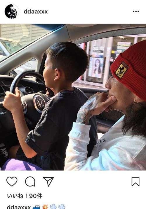 ddaaxxxって誰?子どもに運転させるDQNの顔写真画像、インスタグラム投稿 | yagoolab.jp