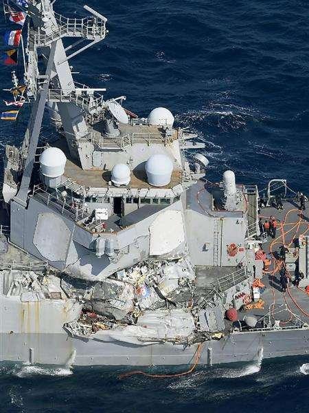 【米イージス艦衝突】米イージス艦と比コンテナ船衝突 7人不明、3人負傷 業過往来危険容疑を視野に事情聴く方針 - 産経ニュース