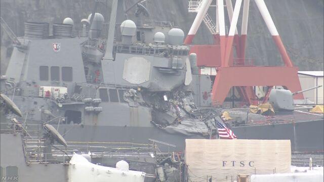 米イージス艦衝突事故 7人の遺体見つかる 乗組員か | NHKニュース