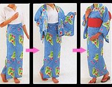 「浴衣を着たいけど面倒」な人に朗報 3ステップで着られる浴衣型パジャマ「らく浴衣」登場