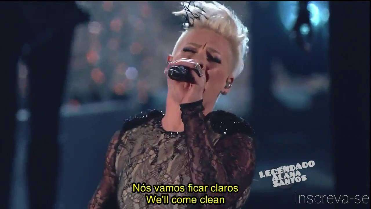 P!nk - Try + Just Give Me A Reason Grammy Awards 2014 ~ LEGENDADO/LYRICS - YouTube
