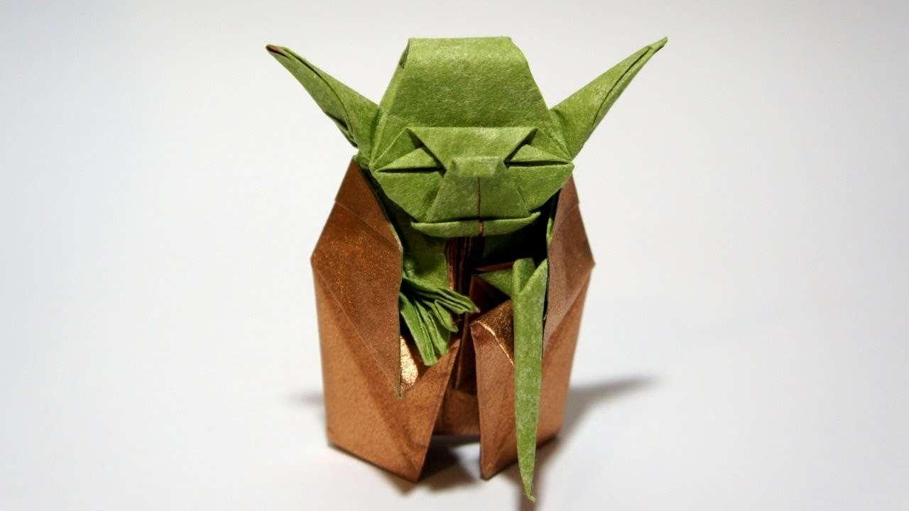 Origami Jedi Master Yoda (Fumiaki Kawahata) - Star Wars - YouTube