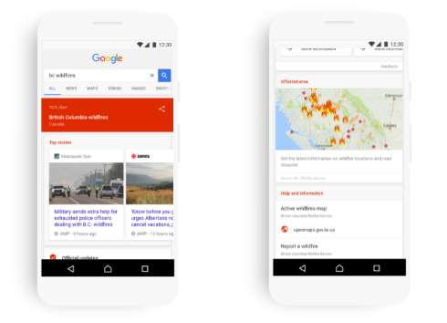 Google、検索とマップに「SOSアラート」 災害時に信頼できる情報を提示 - ITmedia NEWS