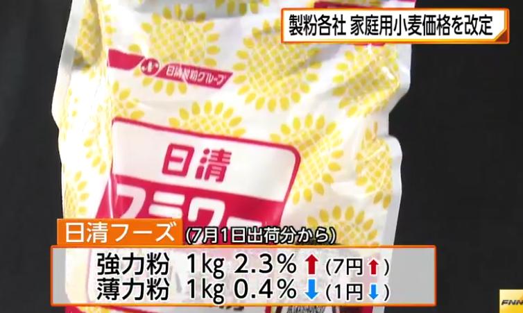 製粉各社、家庭用小麦粉の価格を改定 強力粉2年ぶり値上げ