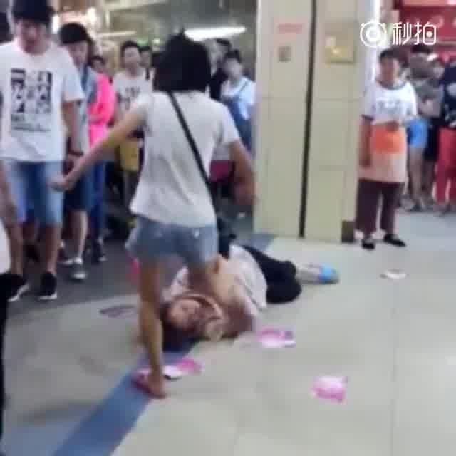 LiveLeak.com - Daughter beats mother in shopping mall
