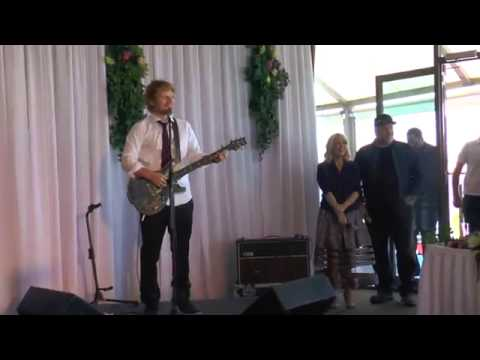 Ed Sheeran Surprises Deserving Wedding Couple! (Surprised them really ,fascinating) - YouTube