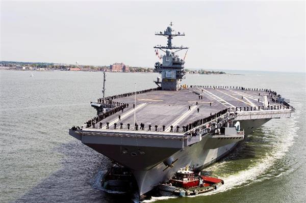 米新型空母「ジェラルド・R・フォード」就役 中国にらみ増強急務 米海軍「2023年以降、空母12隻体制」 - 産経ニュース
