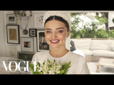 Miranda Kerr's Fairy-Tale Wedding Dress Fitting | Vogue - YouTube