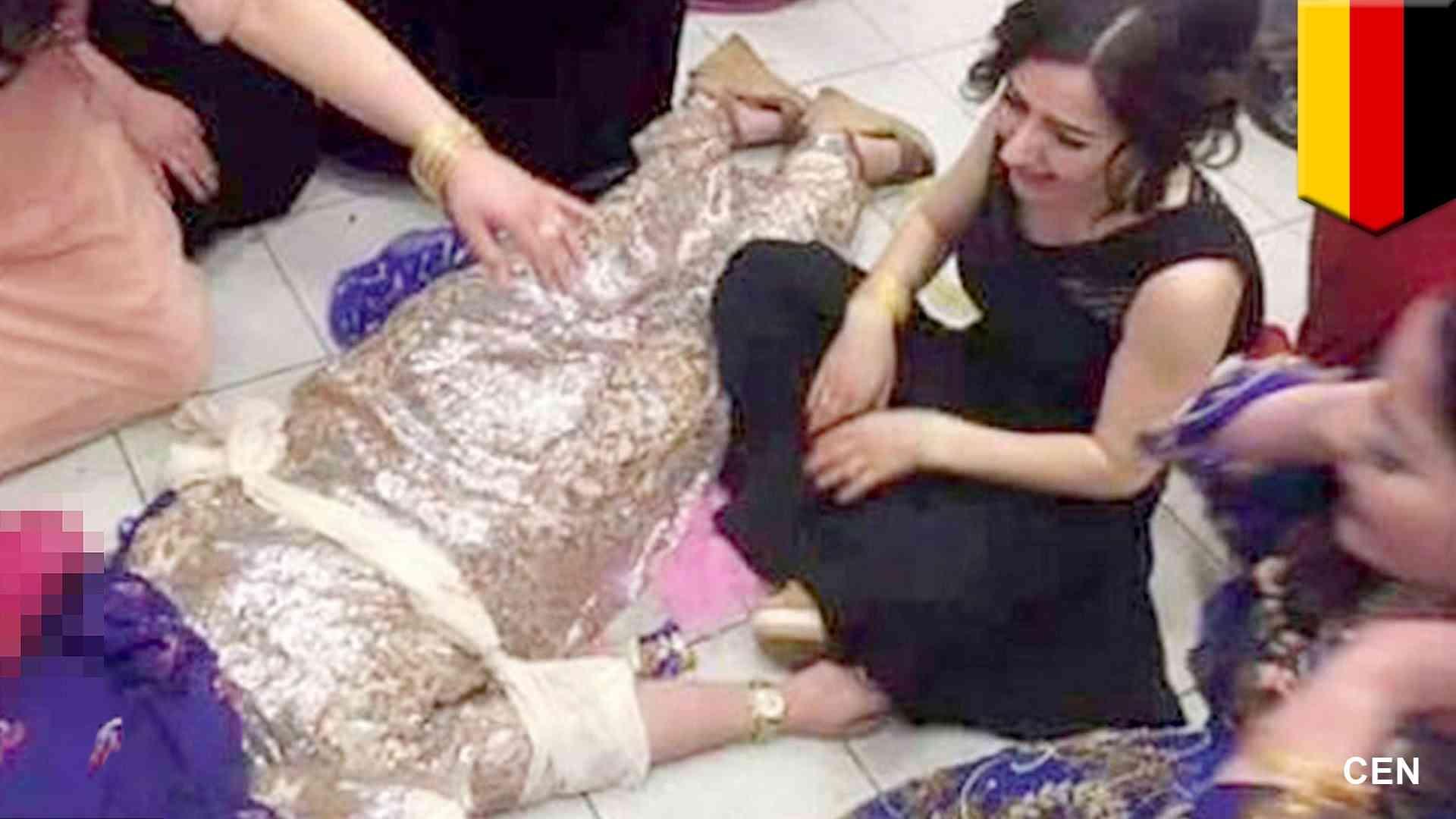 ドイツに移民したクルド人女性 従兄との結婚拒み、結婚式会場で射殺される - YouTube