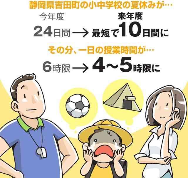 子どもたちの夏休みを10日間に 静岡・吉田町の決断:朝日新聞デジタル