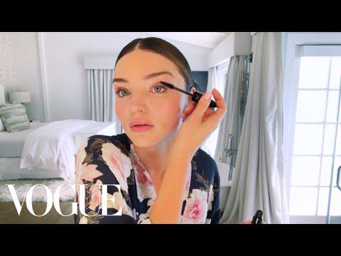 Miranda Kerr Applies Her Glowing Wedding Day Makeup | Beauty Secrets | Vogue - YouTube