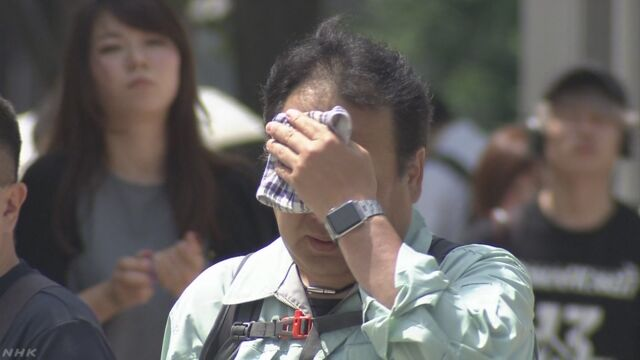 西・東日本 35度以上の猛暑日 各地で熱帯夜の予想 | NHKニュース
