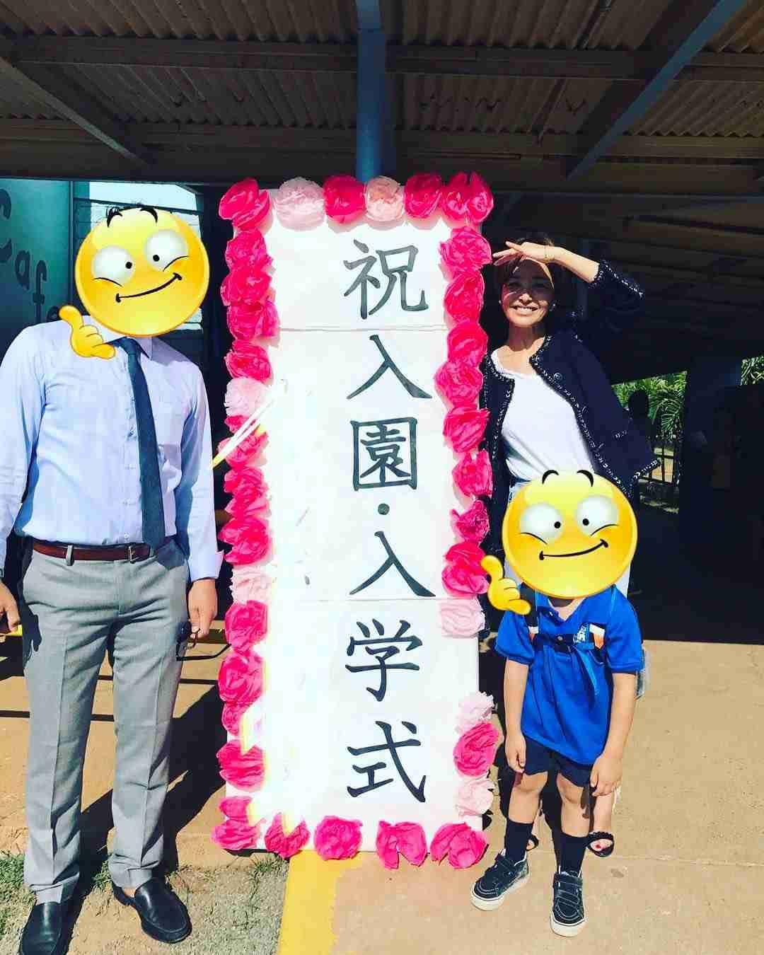 梨花、愛息子の入学式を報告 ハワイで子育て中
