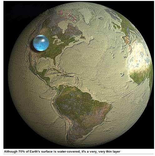 意外と小さい!? 地球上の水をすべて集めるとこうなる | ロケットニュース24