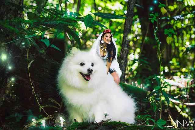 ワンコが超かわいい…「もののけ姫」をほぼ完璧に再現した写真