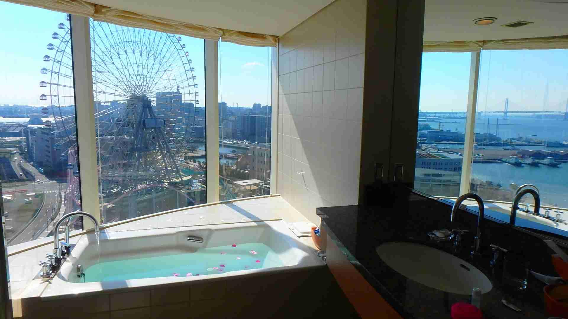 お風呂から観覧車とベイブリッジが見える絶景ホテル『横浜ベイホテル東急』