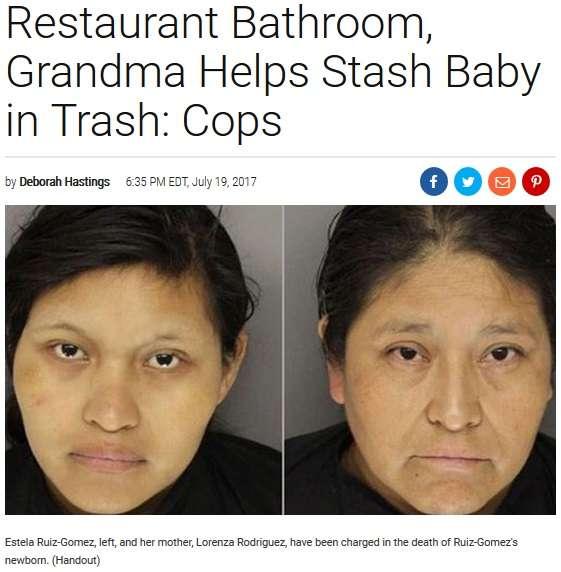 【海外発!Breaking News】休憩中に出産したレストラン従業員 母親とともに新生児をゴミ箱へ(米) | Techinsight(テックインサイト)|海外セレブ、国内エンタメのオンリーワンをお届けするニュースサイト