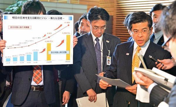 政府、訪日外国人目標を一気に倍増 2020年=4000万人、2030年=6000万人(1/2ページ) - 産経ニュース