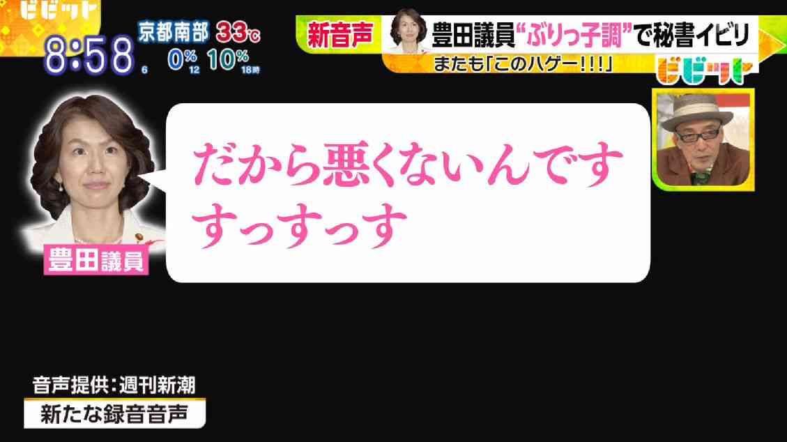 豊田真由子議員の新たな暴言音声を入手!「ビビット」が命名した「ぶりっこ調」とは