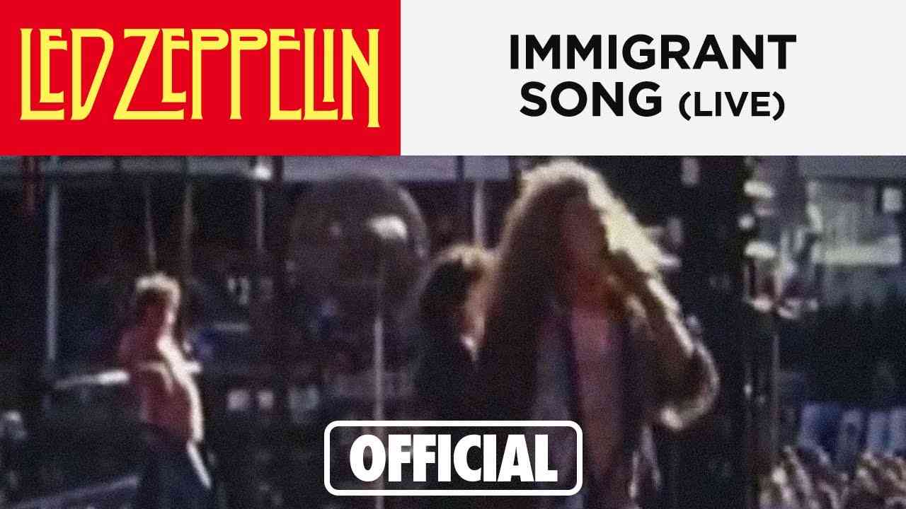 Led Zeppelin - Immigrant Song - Australia 1972 - YouTube